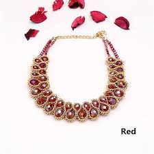 crystal bead necklace images Women 2017 vintage collar gold chain double crystal bead choker jpg