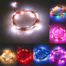 cheap led string lights with batteries 2 m 20 led copper wire