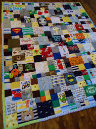 memory clothes keep pieces of their clothes and turn them into a quilt this