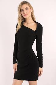 black bodycon dress long sleeve dress modest little black