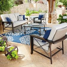 sams club patio table member s mark katana 4 piece seating set katana backyard and
