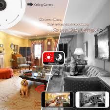 amazon com ip camera 360 degree panoramic fisheye 3d vr wireless