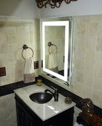 bathroom makeup mirror wall mount best wall mounted lighted magnifying bathroom mirror lighting jerdon