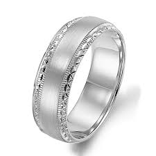 plain white gold wedding band arthurs collection plain white gold mens wedding bands designer