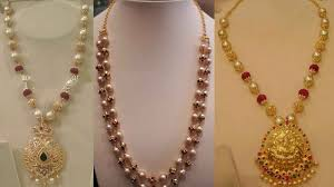 gold pearls necklace images Pearls necklace indian designs with gold in hyderabad jpg