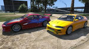 mitsubishi 90s sports car 1995 mitsubishi eclipse gsx gta5 mods com