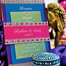 Lohri Invitation Cards Bejeweled Indian Wedding Invitation Suite Sample