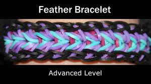 rainbow loom feather bracelet youtube
