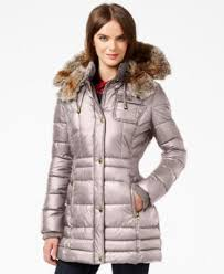 laundry design coat laundry by design petite faux fur trim puffer coat clothes