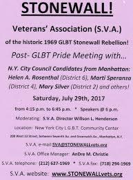 stonewall rebellion veterans u0027 association u0027s current upcoming