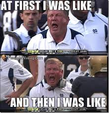 Notre Dame Football Memes - those notre dame rumors just got real mgoblog