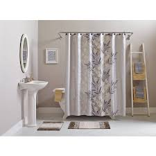 Gray And Brown Shower Curtain - better homes and gardens brown botanical leaf 15 piece bath in a