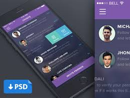 design application ios chat app ui apps pinterest app app ui design and mobile design