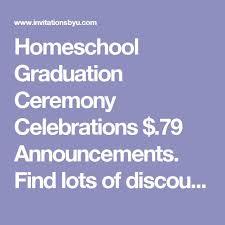 homeschool graduation announcements 141 best homeschool graduation announcements invitations images on