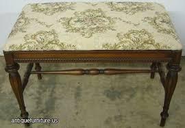 antique walnut vanity bench at antique furniture us