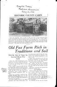 fox farm rich in traditions and soil newspaper article