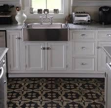 white kitchen vinyl floor interior design