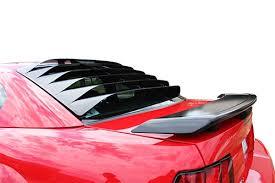mustang rear louvers 1999 04 mustang rear window louvers mrt