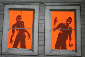 holloween decorations window decorations ideas to spook up your neighbors