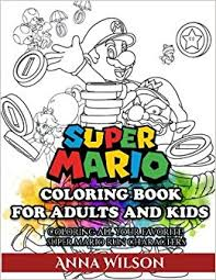 amazon super mario coloring book adults kids super