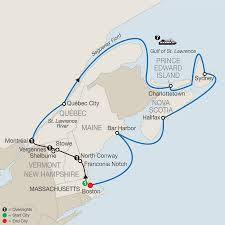 New England On Map Canada Eastern Us Cruise U0026 Tour Globus