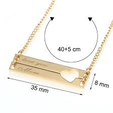 custom charm necklace duoying bar necklaces hollow personalized engraved
