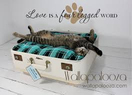 pet wall decal love is a four legged word pet decal cat