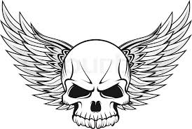 gun skull wings tattoo design photos pictures and sketches