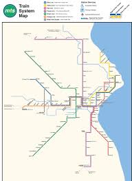 Subway Map by Map Marks Theoretical Milwaukee Subway