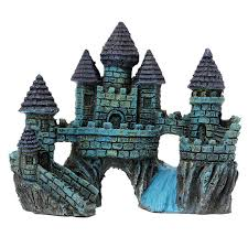 aquariums decorations castle tower resin castle ornaments