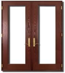 Prehung French Door - textured fiberglass french double door