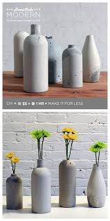 Vase Made From Plastic Bottle True Blue Me U0026 You Diys For Creatives U2022 Diy Concrete Vase