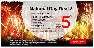 airasia bandung singapore airasia singapore national day air fares promotion deals