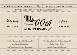 60th wedding anniversary invitations western 60th wedding anniversary invitation