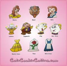 celebrate it cookie cutters pink beauty and the beast cookie cutter set celebrate princess