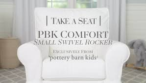Pottery Barn Swivel Chair Small Comfort Swivel Rocker Pottery Barn Kids Youtube