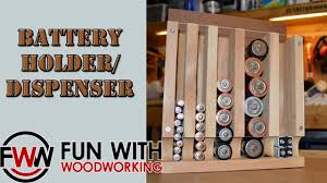 project how to build the wood magazine battery holder dispenser