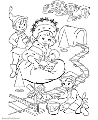 christmas printable coloring pages elves