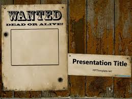 wanted poster powerpoint template free wanted template for