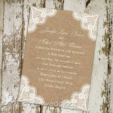 burlap wedding invitations inexpensive rustic lace burlap wedding invitations iwi262