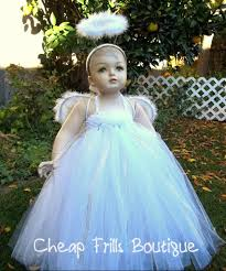 cheap halloween costumes for infants baby snow christmas angel costume tutu dress feather halo