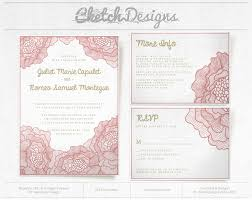 lovely flower wedding invitation template cketch com