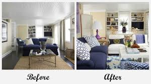 house beautiful living room room makeovers each featuring a very different before and after