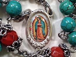 our of guadalupe rosary rosary our of guadalupe rosary turquoise rosary