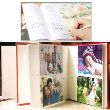 photo albums with memo area slip in wedding photo album ebay