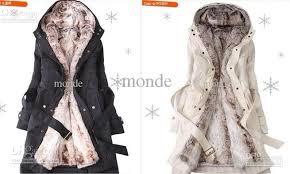 new hooded women u0027s fur coats winter with faux fur ling long