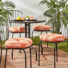 Outdoor Bistro Chair Cushions Decor Tips Stripe Bistro Chair Cushions Ornage Finish For