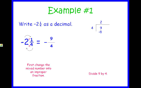 rational numbers converting fractions and decimals youtube
