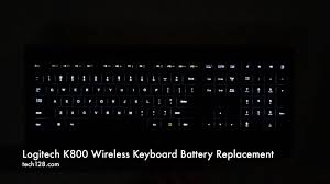 light up wireless keyboard replacing the batteries in your logitech k800 wireless keyboard