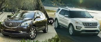 buick enclave 2016 2016 buick enclave vs 2016 ford explorer